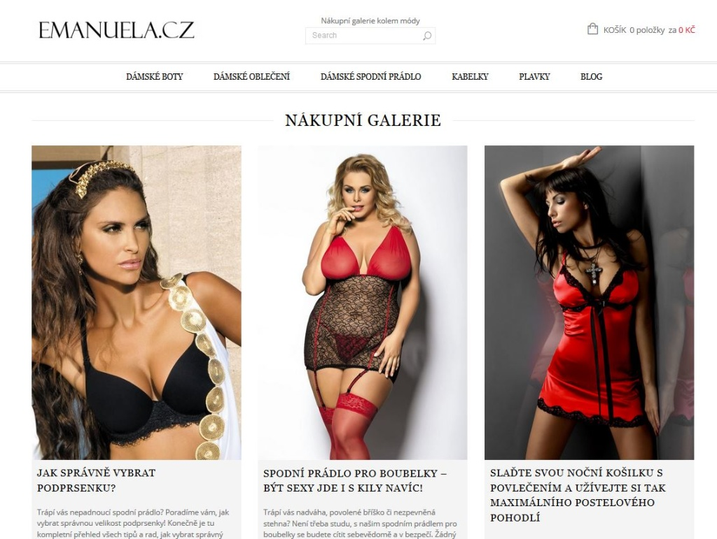 Emanuela.cz - WordPress