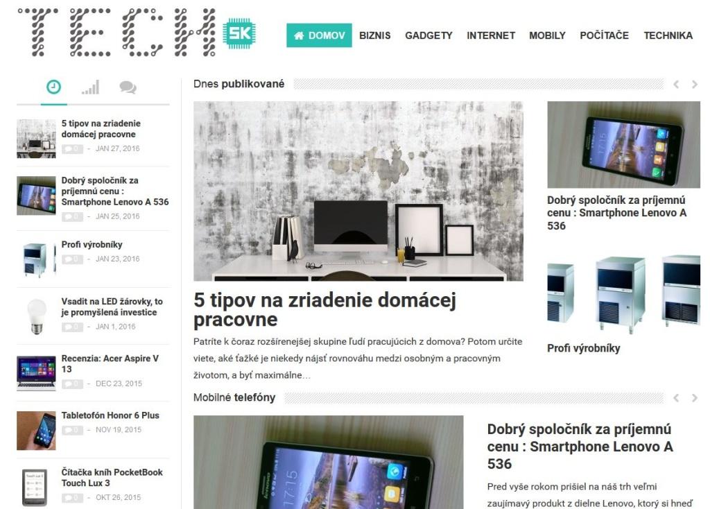 Tech.sk - WordPress